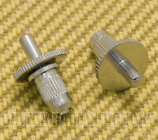 MB002-C (2) M3 Nashville Style Chrome Tune-o-matic Guitar Bridge Studs & Wheels