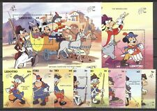 Walt Disney, Philexfrance - Lesotho - 767-774, Bl.62-63 ** MNH 1989