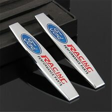 2 x Trunk Rear Emblem Badge Decal Logo Car Auto for FORD RACING Mustang ST Focus