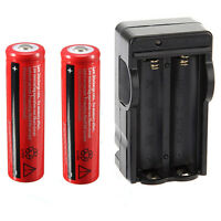 2x 18650 4200mAh 3.7V Li-ion Rechargeable Battery for Flashlight + Dual Charger