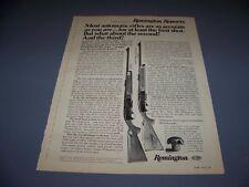 VINTAGE..1973 REMINGTON MODEL 742 WOODMASTER ..ORIGINAL SALES ADS...RARE! (273M)
