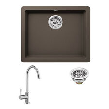 Superior Sinks 21.65-in x 16.92-in Mocha Brown  Granite Drop-in Kitchen Sink