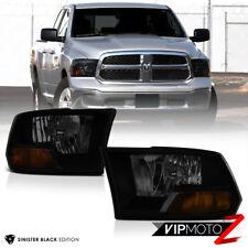 [SINISTER BLACK] 2009 2010 2011 2012 2013 2014 2015-2018 Dodge Ram Headlights