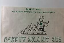 "OPEI ASA ""SAMMY SEZ"" Safety Tips for Garden Tractors & Riding Lawn Mowers Manual"