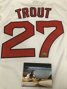 Mike Trout Signed Angels White Jersey With 2012 ROY Inscription COA