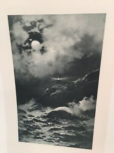 Point Reyes Light From Painting By Julian Rix in John Muir 1888  Photogravure