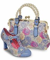 Joe Browns Couture Meadow Shoes Bag Vintage Floral T-bar Heels Sizes 3-9
