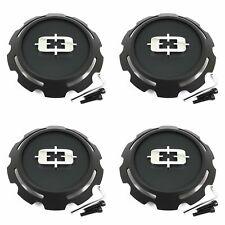 """4x Vision Wheel Satin Black Wheel Center Hub Caps 9""""OD Snap-In for Rebel 391"""