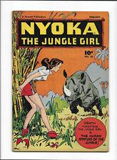 NYOKA THE JUNGLE GIRL #28 [1949 FN+] RHINO COVER!
