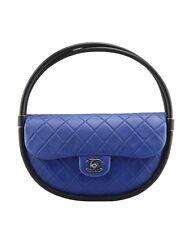 Chanel A66220 Hula Hoop Blue Quilted Leather Shoulder Bag