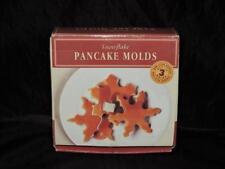 Williams Sonoma Snowflake Pancake Molds Set of 3 Nonstick Black Metal Cooking