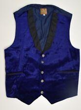 M2012 chaleco de terciopelo azul hombre talla 40 Reino Unido