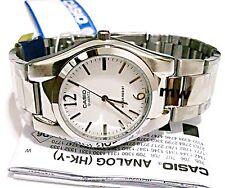 Casio MTP-1253D-7A Quartz Analogue White Dial Silver Steel Gents Men's Watch NEW