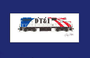 "Detroit, Toledo & Ironton GP38-2 1776 11""x17"" Matted Print Andy Fletcher signed"