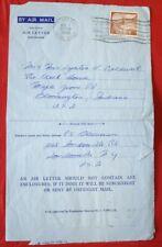 Mayfairstamps Canal Zone 1958 Cristobal to Bloomington IN Formular Aerogramme ww