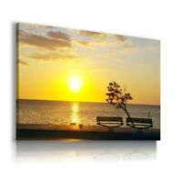SUNSET BEACH SEA OCEAN View Canvas Wall Art Picture Large SIZES  L266  MATAGA .