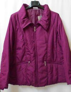 Damen Stepp Jacke HS GinaG mit Kragen Reißverschluss Farbe Brombeer Rot Größe 42