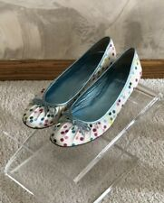 Coach Brooke Polka Dot Ballet Flats Slip On Satin Dress Shoes US 6.5 B 6 1/2 GUC