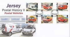 2006 Jersey Postal History 11 Postal Vehicles Full Set of 6 Jersey Post FDC  31