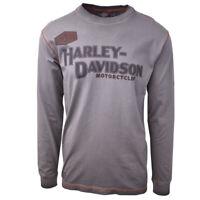 Harley-Davidson Men's Iron Block Grey L/S Tee (S02)