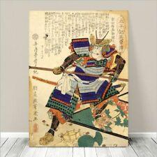 "Vintage Japanese SAMURAI Warrior Art CANVAS PRINT 8x10""~ Kuniyoshi  #278"