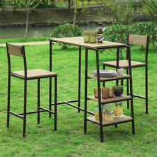 SoBuy Set Tavolo e sedie da Bar,Penisola Cucina Mobile,Altezza:100 cm,OGT16-N,IT