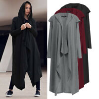 Ladies Oversized Hooded Loose Cardigan Womens Waterfall Long Trench Coat Jacket