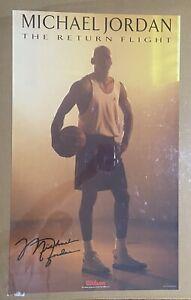 1995 Wilson Sporting Goods Poster The Return Flight Michael Jordan Chicago Bulls