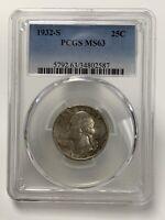 1932-S Washington Quarter PCGS MS63