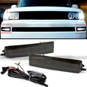 Fit 03-07 xB Smoked Lens LED DRL Day Time Running Bumper Driving Fog Light Lamps