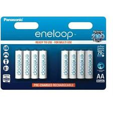 8 x Panasonic AA 1900mAh Eneloop Rechargeable Batteries NiMH Recharge 2100 times