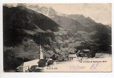 SUISSE SWITZERLAND Canton du VALAIS VAL D'ILLIEZ vue du village et dents du midi