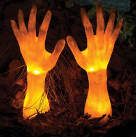 Light Up Grave Breaker Two Arms Halloween Yard Decor