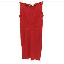 Diane Von Furstenberg Dress UK 14 US 10 Red High Square Neck Occasion 261670