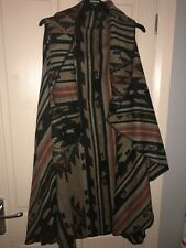 New Look Plus Size Aztec Sleeveless Waterfall Front Cardigan Size 22