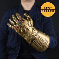Avengers Infinity War Infinity Gauntlet Light Thanos Gloves Cosplay Prop Final