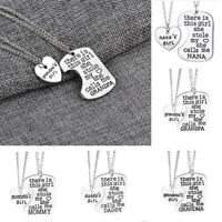 2pcs Family Gift Girl Stole My Heart Lettering Necklace Set Heart Puzzle Jewelry