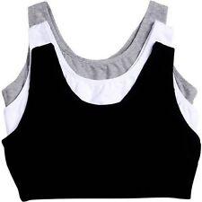 3pk PLUS Size 50 48 Sports Bra Gray Black & White Tank Style Gym Bra Perfect Fit