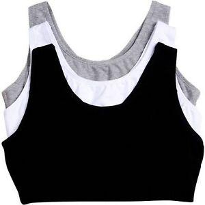 1 PLUS Size 50 48 Sports Bra Gray Black or White Tank Style Gym Bra Perfect Fit