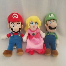 "Super Mario Bros 3x Mario Luigi Princess Peach Bean 8"" Plush Set San-Ei Rare"