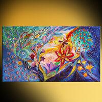 Under the wind super quality giclee print figurative Jewish art Elena Kotliarker