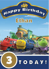 Chuggington Personalised Birthday Card - Add your own name & age