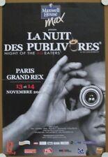Affiche NUIT DES PUBLIVORES 2009 Grand Rex Paris