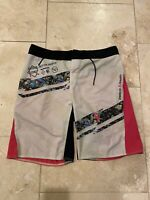 Mens Reebok Crossfit Grey/pink Shorts 32