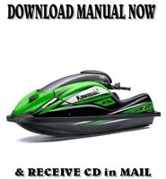 Kawasaki 800 SX-R JS800-A1 Jet Ski factory repair shop service manual on CD