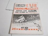 #MISC-2396 CAR RACING PROGRAM - SEPT 10 1961 READING PENN. FAIR MIDGET RACE
