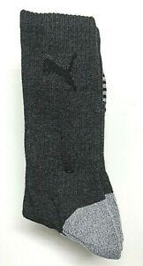 PUMA Mens 4 Pair Dk Gray w/Gray Heel & Toe Cool Max Sport Crew Sock Shoe SZ 6-12