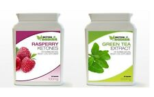 30 Raspberry Ketone & 30 Green Tea Bottle Colon Cleanse Weight Loss Diet Pills