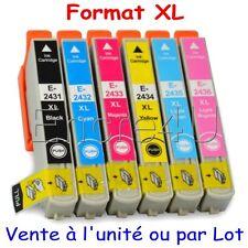 Lot cartouches non oem epson T24 XL T2438 XL pour imprimantes 55 760 860 960 XP