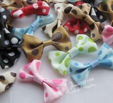 60pcs Mix Ribbon Bows Flowers Appliques Crafts Wedding Decor RB093